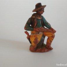 Figuras de Goma y PVC: FIGURA VAQUERO EN GOMA REAMSA. Lote 137281434