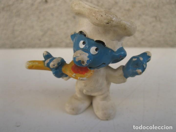 PITUFO COCINERO - FIGURA DE PVC. (Juguetes - Figuras de Goma y Pvc - Otras)