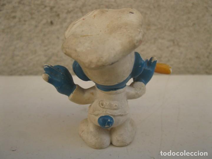 Figuras de Goma y PVC: PITUFO COCINERO - FIGURA DE PVC. - Foto 2 - 137334774