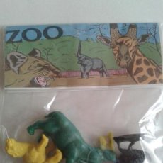 Figuras de Goma y PVC: JECSAN - MONTAPLEX - BOLSA ZOO 4 FIGS. PREMIUM - PLASTICO - LOTE 211. Lote 137438142