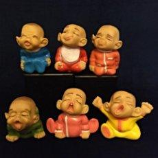 Figuras de Goma y PVC: 6 MUÑECOS GESTITOS DE GOMA PERE DE 11 CM.AÑOS 70-80 DESCATALOGADOS. Lote 137505294