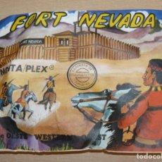 Figuras de Goma y PVC: MONTAPLEX SOBRE OESTE WESTERN FORT NEVADA SERIE 145 SOLDADITOS INDIOS COWBOYS VAQUEROS AÑOS 70. Lote 137561846