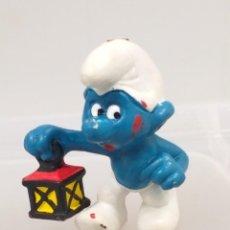 Figuras de Goma y PVC: FIGURA PVC PITUFOS PITUFO FAROLILLO SCHLEICH. Lote 137639798