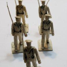 Figuras de Goma y PVC: REAMSA GOMARSA LOTE 5 MILITARES EJÉRCITO LA MARINA. Lote 137666489