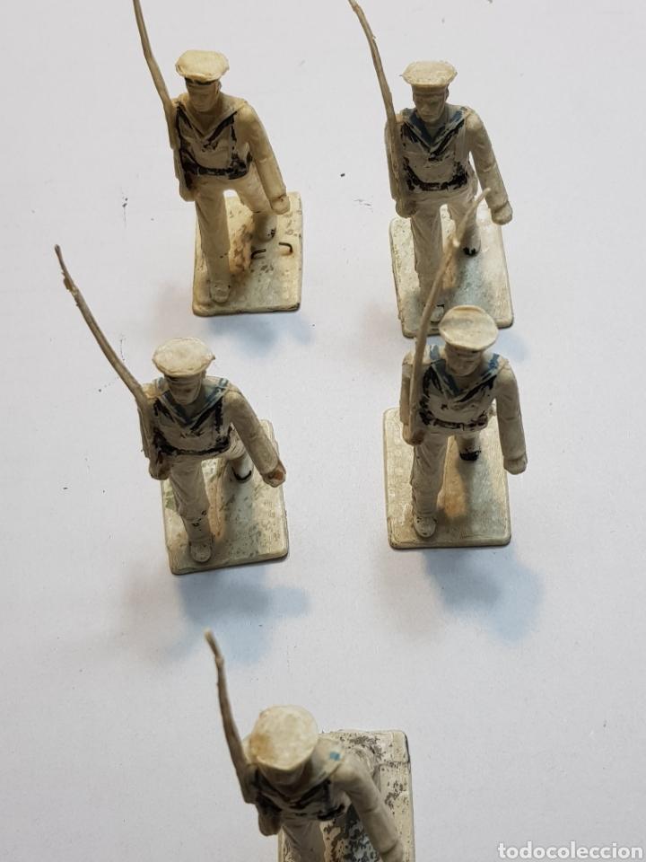 Figuras de Goma y PVC: Reamsa Gomarsa lote 5 militares ejército la Marina - Foto 3 - 137666489