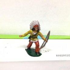 Figuras de Goma y PVC: FIGURA INDIO REAMSA OESTE WESTERN GOMARSA REAMSA. Lote 137679922