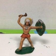 Figuras de Goma y PVC: FIGURA INDIO REAMSA OESTE WESTERN GOMARSA REAMSA. Lote 137680398