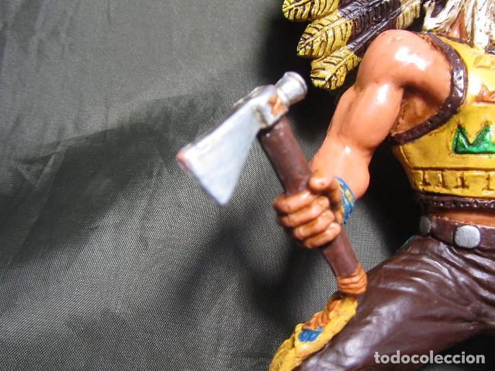 Figuras de Goma y PVC: JEFE INDIO GRANDE COMANSI SIN CABALLO - Foto 5 - 137724682