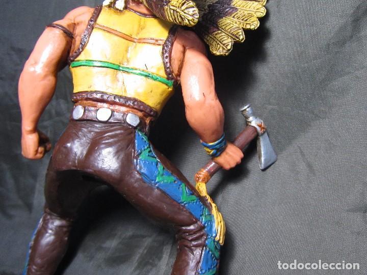 Figuras de Goma y PVC: JEFE INDIO GRANDE COMANSI SIN CABALLO - Foto 10 - 137724682