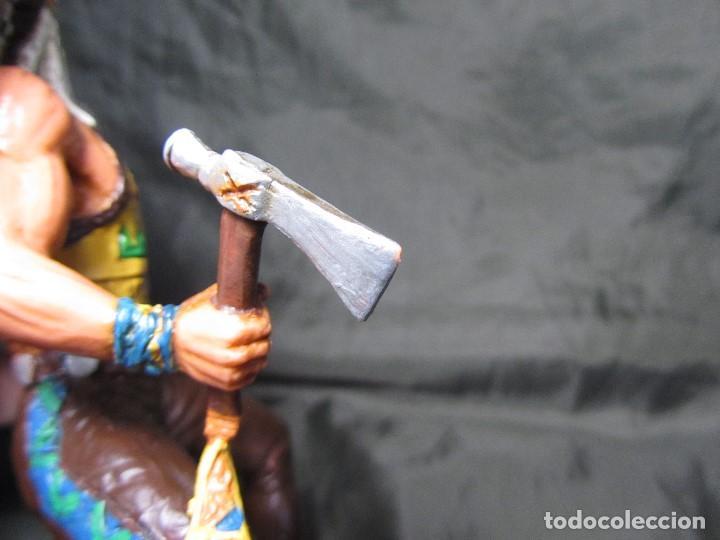 Figuras de Goma y PVC: JEFE INDIO GRANDE COMANSI SIN CABALLO - Foto 13 - 137724682