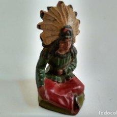 Figuras de Goma y PVC: FIGURA INDIO REAMSA GOMA. Lote 137724798
