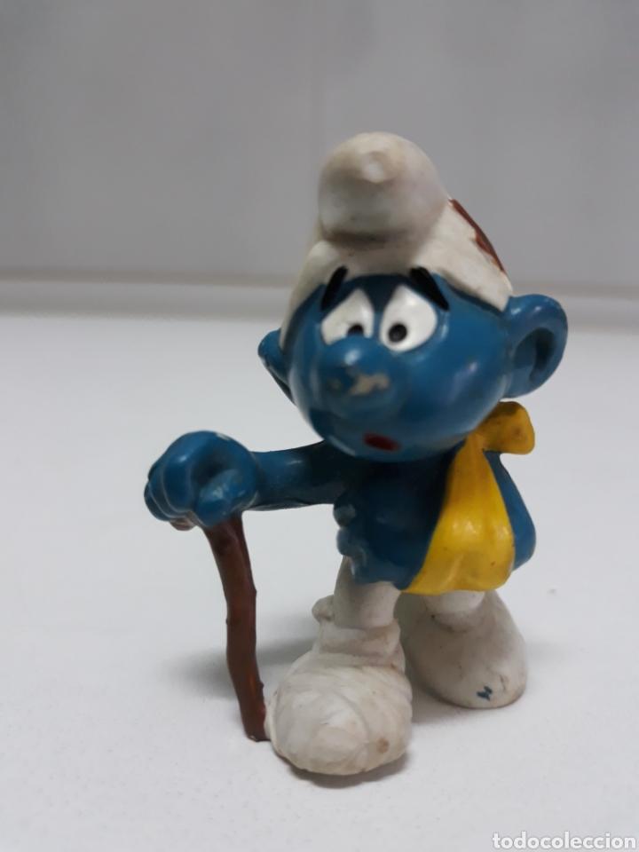 FIGURA GOMA PITUFO SCHLEICH PEYO 1978 (Juguetes - Figuras de Goma y Pvc - Schleich)