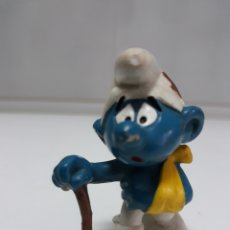 Figuras de Goma y PVC: FIGURA GOMA PITUFO SCHLEICH PEYO 1978. Lote 137739048