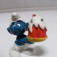 Figuras de Goma y PVC: FIGURA GOMA PITUFO BULLY PEYO. Lote 137739281