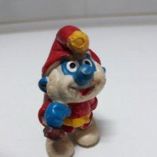 Figuras de Goma y PVC: FIGURA GOMA PAPA PITUFO PAPA NOEL. Lote 137747160