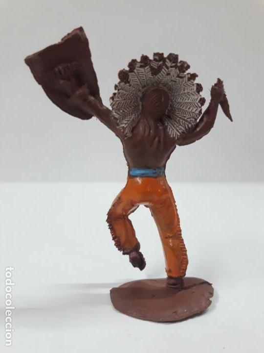 Figuras de Goma y PVC: GUERRERO INDIO . REALIZADO POR PECH . SERIE PEQUEÑA . AÑOS 50 EN GOMA - Foto 2 - 137827826