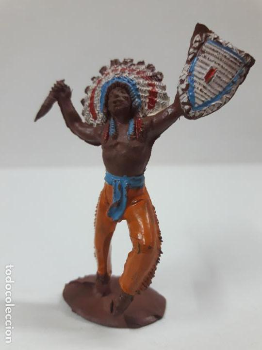 Figuras de Goma y PVC: GUERRERO INDIO . REALIZADO POR PECH . SERIE PEQUEÑA . AÑOS 50 EN GOMA - Foto 3 - 137827826