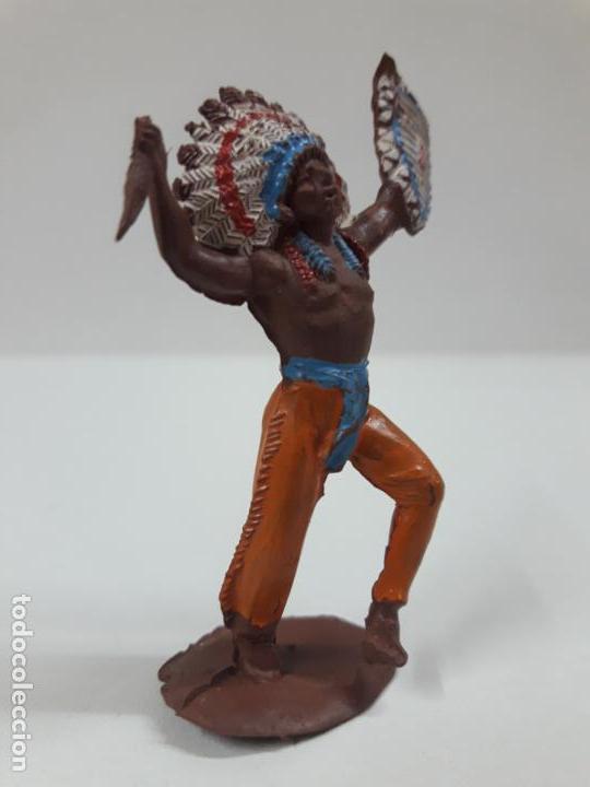 Figuras de Goma y PVC: GUERRERO INDIO . REALIZADO POR PECH . SERIE PEQUEÑA . AÑOS 50 EN GOMA - Foto 4 - 137827826