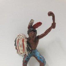 Figuras de Goma y PVC: GUERRERO INDIO PARA CABALLO . REALIZADO POR TEIXIDO . SERIE PEQUEÑA . AÑOS 50 EN GOMA. Lote 137839194