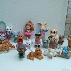 Figuras de Goma y PVC: LOTE DE ANIMALES GRACIOSOS PERROS Y GATOS. Lote 137850124