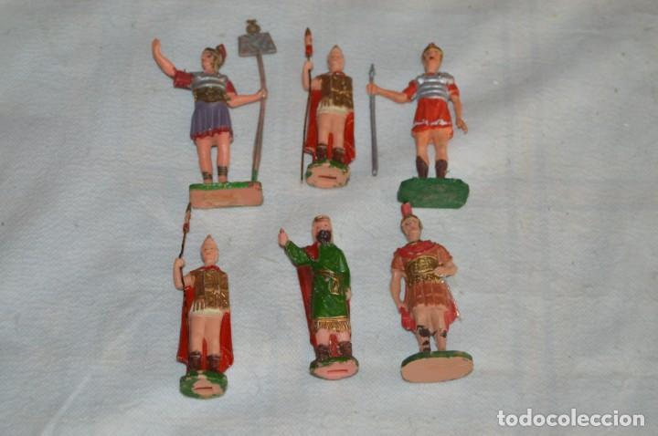 VINTAGE - LOTE DE 6 FIGURAS DE PLÁSTICO / PVC - REAMSA - FIGURAS BELÉN / ROMANOS - ENVÍO 24H (Juguetes - Figuras de Goma y Pvc - Reamsa y Gomarsa)
