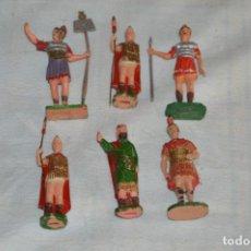 Figuras de Goma y PVC: VINTAGE - LOTE DE 6 FIGURAS DE PLÁSTICO / PVC - REAMSA - FIGURAS BELÉN / ROMANOS - ¡MIRA!. Lote 137851270