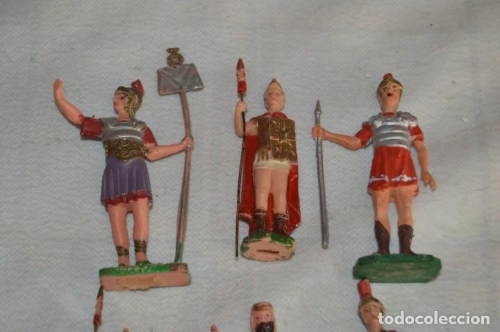 Figuras de Goma y PVC: VINTAGE - LOTE DE 6 FIGURAS DE PLÁSTICO / PVC - REAMSA - FIGURAS BELÉN / ROMANOS - ENVÍO 24H - Foto 2 - 137851270