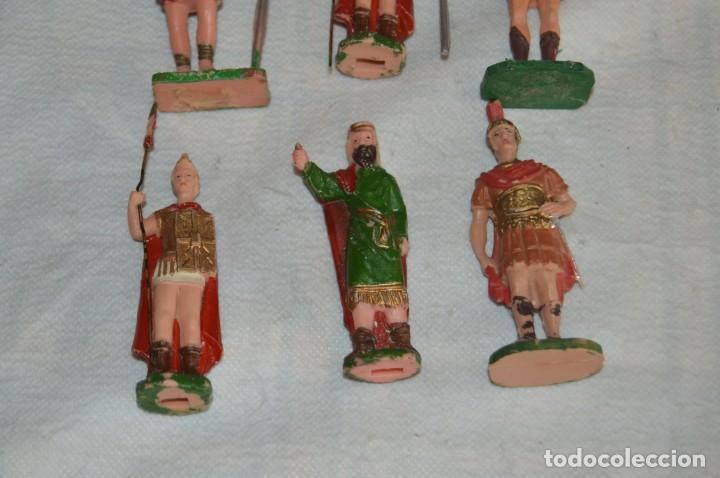 Figuras de Goma y PVC: VINTAGE - LOTE DE 6 FIGURAS DE PLÁSTICO / PVC - REAMSA - FIGURAS BELÉN / ROMANOS - ENVÍO 24H - Foto 3 - 137851270