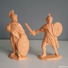 Figuras de Goma y PVC: BEN-HUR. LEGIONES ROMANAS DE REAMSA, CENTURIÓN Y LEGIONARIO, REEDICIÓN EN PLÁSTICO MONOCOLOR.. Lote 137877041