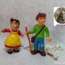 Figuras de Goma y PVC: ANTIGUA FIGURA *HEIDI Y PEDRO* .... MARCA COMIC SPAIN - EN BUEN ESTADO.. Lote 137995278