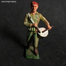 Figuras de Goma y PVC: MUÑECO FIGURA SOLDADO PARACAIDISTA BOINA ROJA STARLUX ORIGINAL AÑOS 60 FRANCIA TAMBOR FRANCES. Lote 138107490