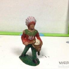 Figuras de Goma y PVC: FIGURA INDIO REAMSA OESTE WESTERN CAMPAMENTO INDIO. Lote 138411098