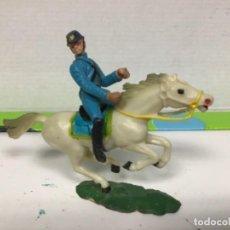 Figuras de Goma y PVC: FIGURA FEDERADO STARLUX FEDERAL YANKEE GUERRA CIVIL CABALLO COFALU . Lote 138634558