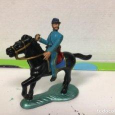 Figuras de Goma y PVC: FIGURA YANKEE FEDERADO STARLUX GUERRA CIVIL AMERICANA FEDERAL DOS BANDERAS YANQUI. Lote 138635414