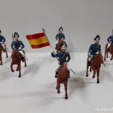 Figuras de Goma y PVC: DRAGONES DE SANTIAGO A CABALLO - DESFILE . REALIZADO POR GOMARSA / SOLDIS . AÑOS 70. Lote 138652294