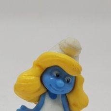 Figuras de Goma y PVC: FIGURA PEQUEÑA - PITUFINA - 4 CM - CAR122. Lote 138716501
