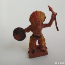 Figuras de Goma y PVC: FIGURA INDIO EN GOMA AÑOS 50. Lote 138759398