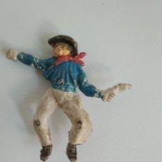 Figuras de Goma y PVC: RARA FIGURA VAQUERO EN GOMA. Lote 138760634