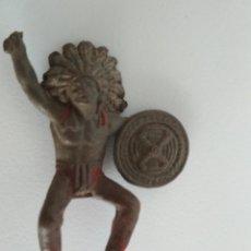 Figuras de Goma y PVC: RARA FIGURA TEIXIDO JINETE INDIO GOMA. Lote 138761494