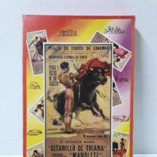 Figuras de Goma y PVC: CAJA ORIGINAL DE TOREROS Y TOROS . REALIZADA POR PECH . AÑOS 60. Lote 138840654