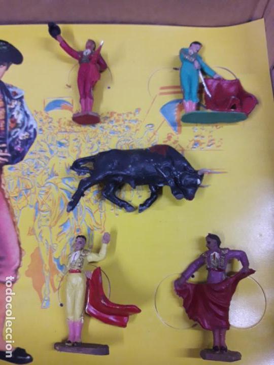 Figuras de Goma y PVC: CAJA ORIGINAL DE TOREROS Y TOROS . REALIZADA POR PECH . AÑOS 60 - Foto 19 - 138840654
