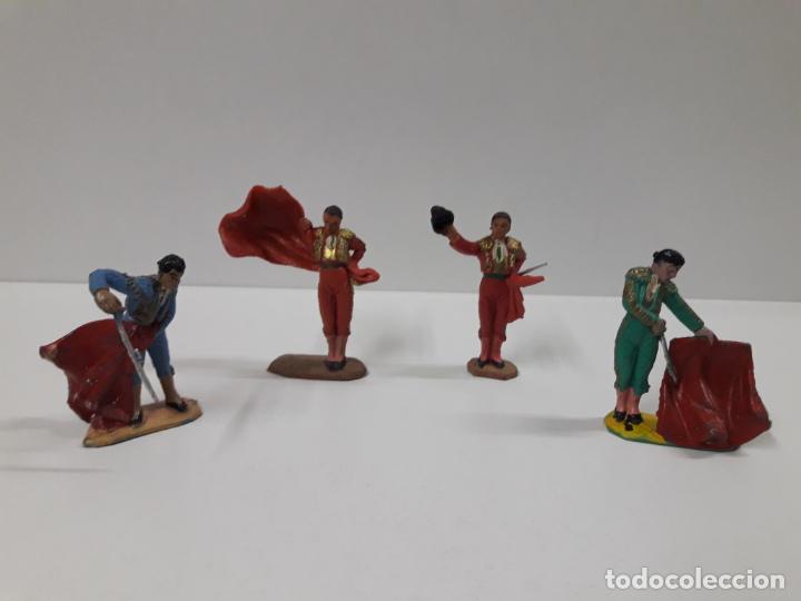 Figuras de Goma y PVC: CAJA ORIGINAL DE TOREROS Y TOROS . REALIZADA POR PECH . AÑOS 60 - Foto 29 - 138840654