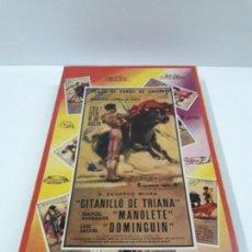 Figuras de Goma y PVC: CAJA ORIGINAL DE LA CORRIDA DE TOROS . REALIZADA POR PECH . AÑOS 60. Lote 138841578