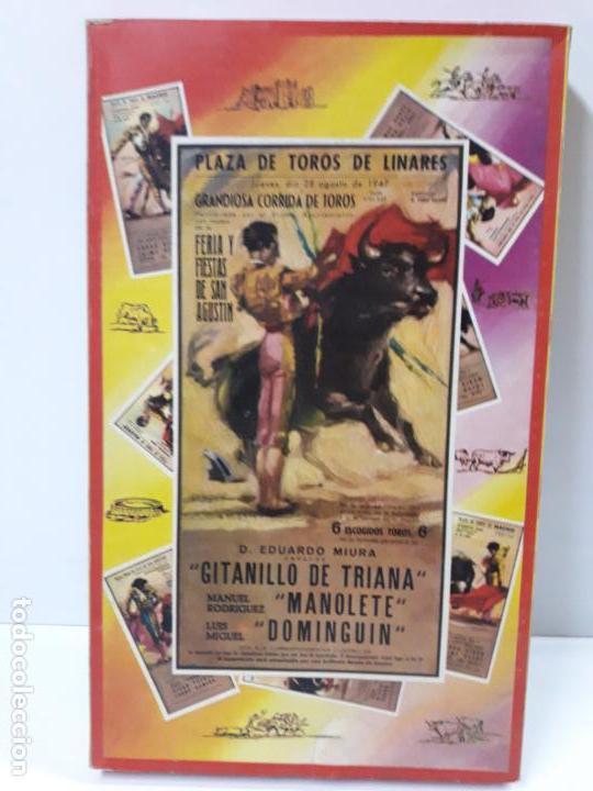 Figuras de Goma y PVC: CAJA ORIGINAL DE LA CORRIDA DE TOROS . REALIZADA POR PECH . AÑOS 60 - Foto 2 - 138841578