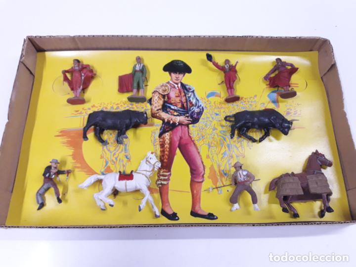 Figuras de Goma y PVC: CAJA ORIGINAL DE LA CORRIDA DE TOROS . REALIZADA POR PECH . AÑOS 60 - Foto 13 - 138841578