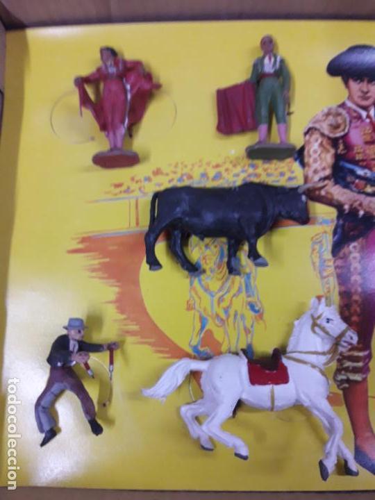 Figuras de Goma y PVC: CAJA ORIGINAL DE LA CORRIDA DE TOROS . REALIZADA POR PECH . AÑOS 60 - Foto 15 - 138841578