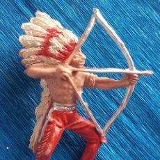 Figuras de Goma y PVC: PECH OLIVER . JEFE INDIO 3 AÑOS 60-70. NUNCA JUGADO. Lote 138842518