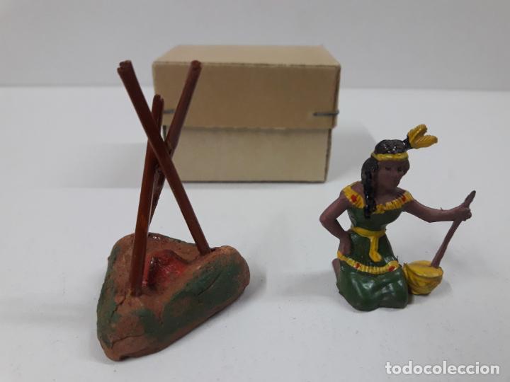 Figuras de Goma y PVC: INDIA CON HOGUERA EN SU CAJA ORIGINAL . REALIZADA POR CAPELL . AÑOS 50 - Foto 9 - 138847370