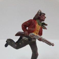 Figuras de Goma y PVC: VAQUERO - COWBOY CORRIENDO . FIGURA REAMSA Nº 65 . AÑOS 50 EN GOMA. Lote 138858554