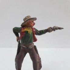 Figuras de Goma y PVC: VAQUERO - COWBOY EN POSION DE DISPARO . FIGURA REAMSA Nº 63 . AÑOS 50 EN GOMA. Lote 138859546